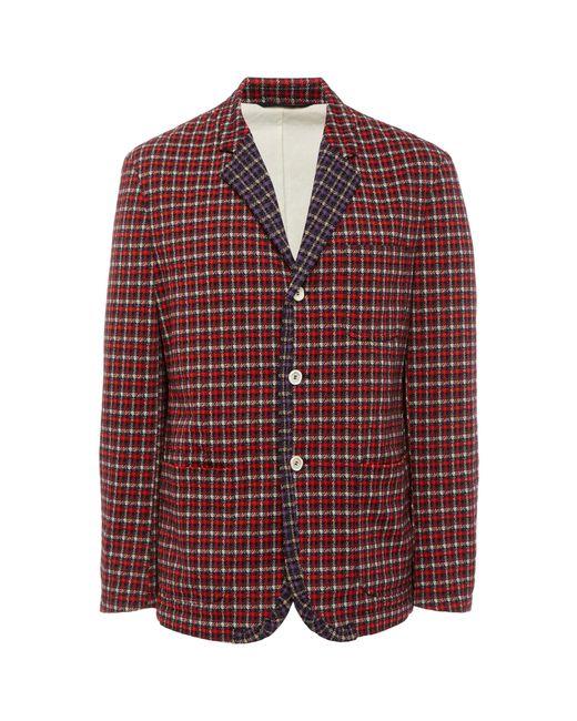 Marni - Red Plaid Crepe Blazer for Men - Lyst