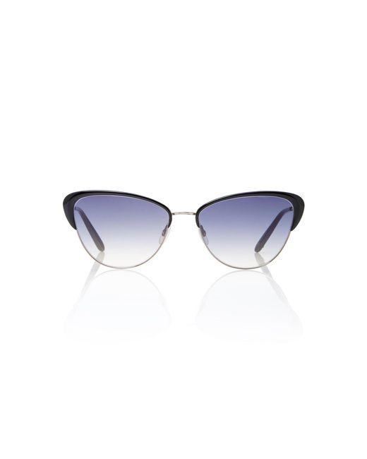 Garrett Leight - Black Vista 56 Cat-eye Sunglasses - Lyst