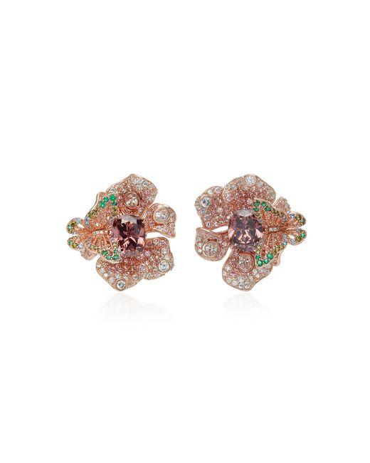 Anabela Chan - Brown Exclusive Rose Peony Earrings - Lyst
