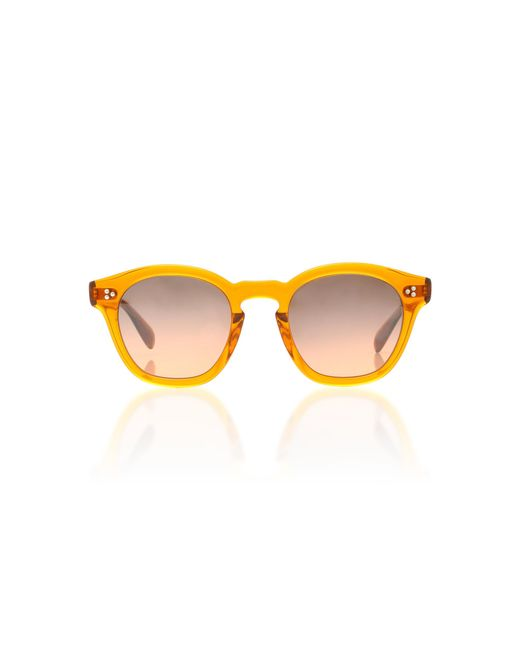 Oliver Peoples - Orange Boudreau La Round Sunglasses for Men - Lyst