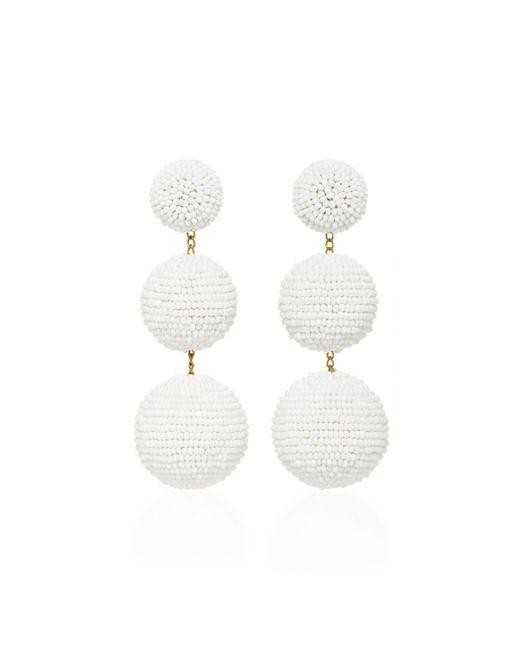 Rebecca de Ravenel   White Classic Short Earrings   Lyst