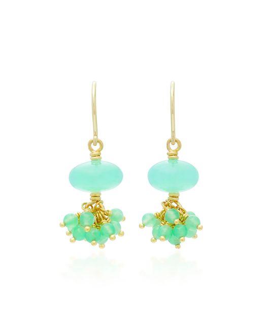 Mallary Marks | Green Sprinkle 18k Gold Beaded Earrings | Lyst