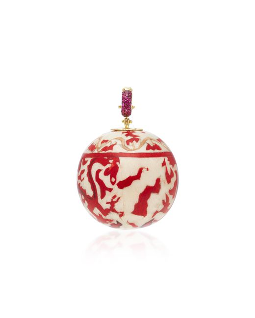 Silvia Furmanovich | Marquetry Chinese Red Ball Charm With Gemfields Rubies | Lyst
