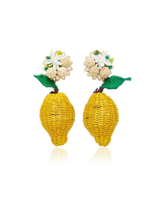 Mercedes Salazar | Yellow Limon Silvestre Earrings | Lyst