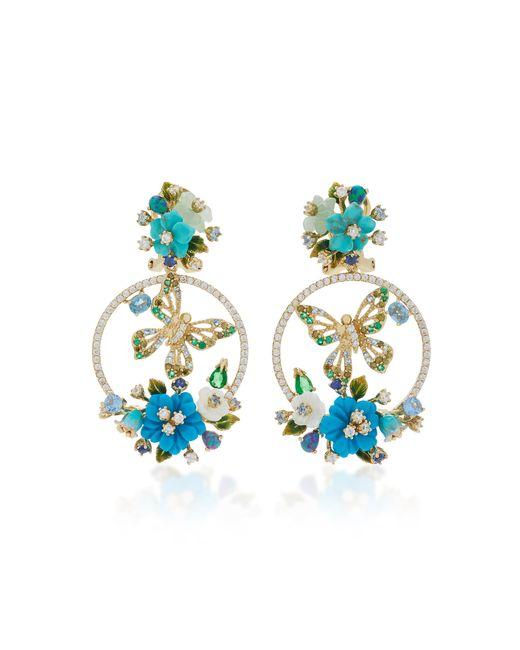 Anabela Chan   Blue Turquoise Butterfly Wreath Earrings   Lyst