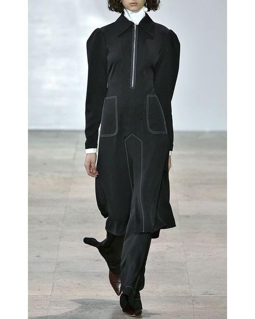 Ellery 13th floor wide leg flare trouser in black lyst for 13th floor pitch black