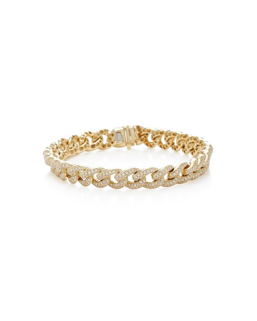 Sydney Evan | Metallic Small Pave Link Bracelet | Lyst