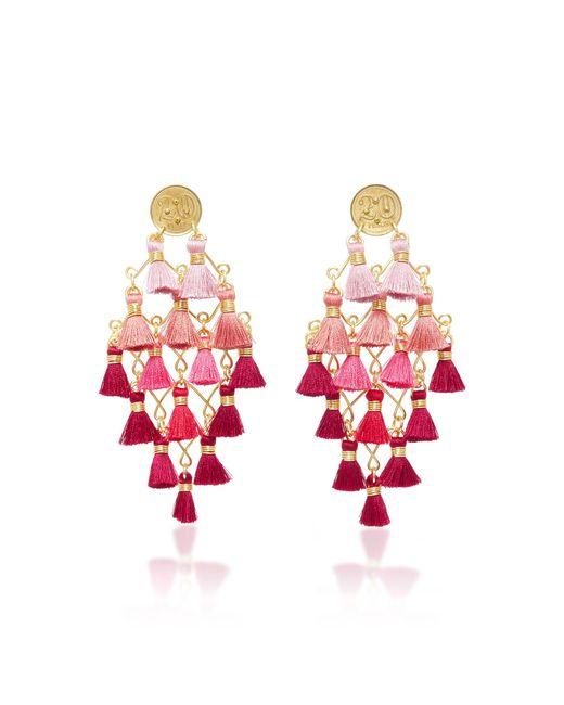 Mercedes Salazar | Pink Lluvia De Fucsia Earrings | Lyst