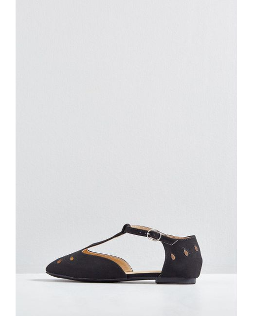 694fb229ee ... ModCloth - Black The Zest Is History T-strap Flat - Lyst ...