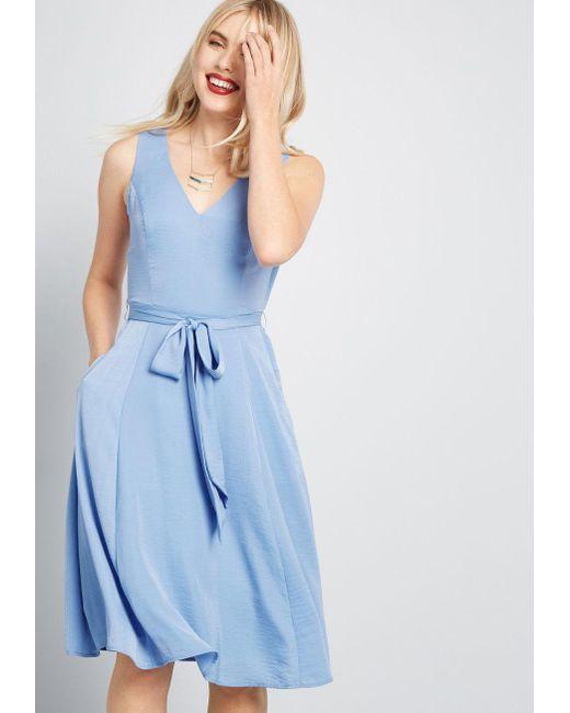 cec20bffc13 ModCloth - Blue Timeless Magnetism A-line Dress - Lyst ...