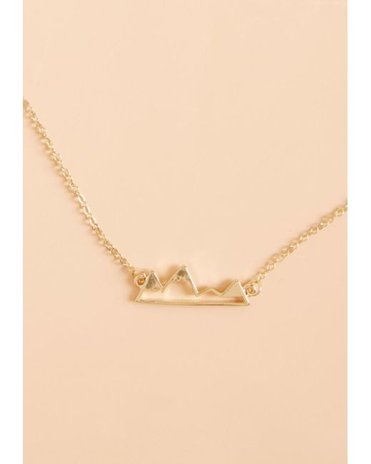 ModCloth | Metallic Change Of Scenery Necklace | Lyst