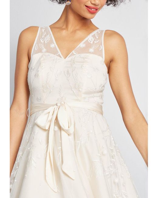dcca7c9df9f ... ModCloth - White Flawless For The Occasion Midi Dress - Lyst ...