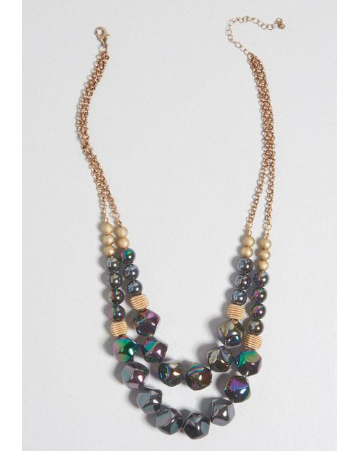 ModCloth - Multicolor Impress With Ease Statement Necklace - Lyst