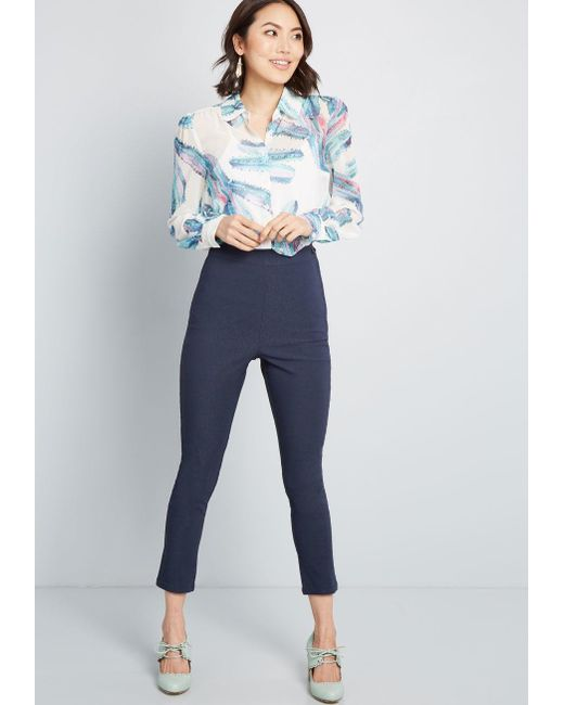 4026a24a227 ... ModCloth - Blue Be Buzzworthy Button-up Top - Lyst ...