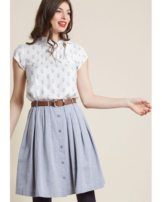 ModCloth | Gray Living The Dream Skirt In Grey | Lyst