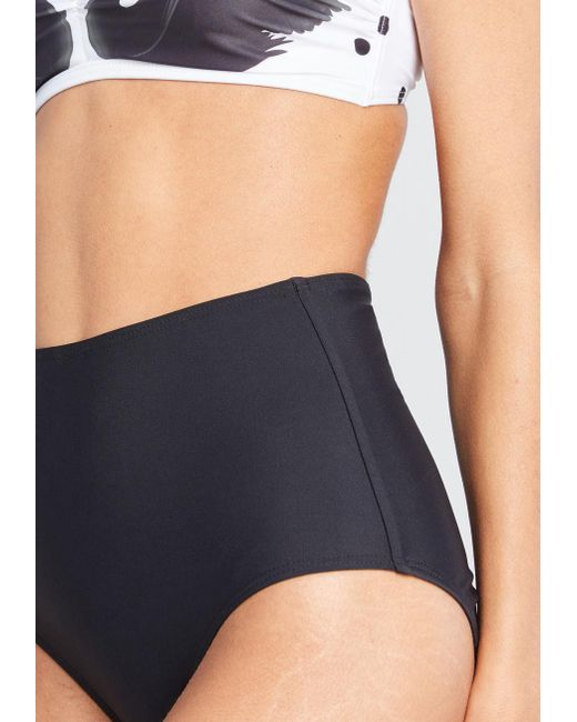 b0e957509e ... ModCloth - Black The Sara High-waisted Bikini Bottom - Lyst ...