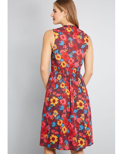 879c9ed15c416 ModCloth Savor The Occasion Woven A-line Dress in Red - Save 9% - Lyst