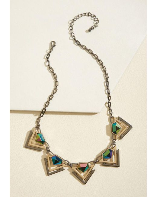 ModCloth | Multicolor Hidden Gemstone Necklace | Lyst