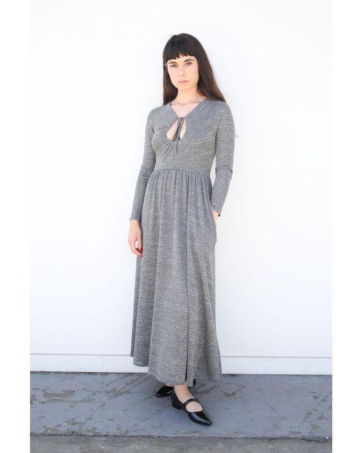 AlexaChung - Gray Lurex Keyhole Dress - Lyst