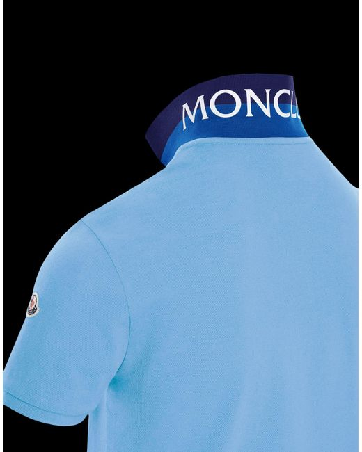 35eba39e9 Lyst - Moncler Polo in Blue for Men