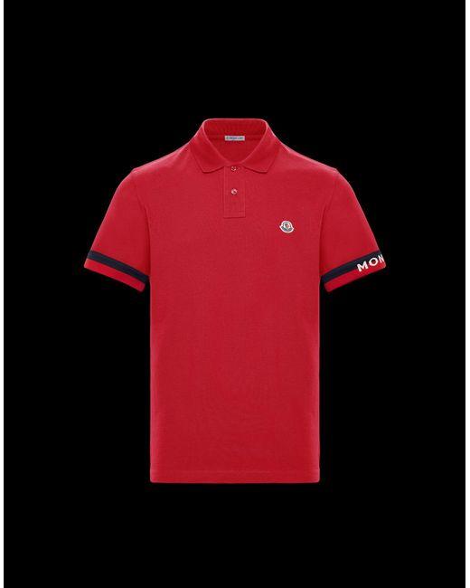 255e96a8737e9 Moncler - Red Polo for Men - Lyst ...