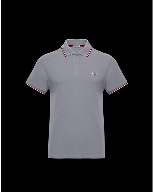 f4d27b578693 Moncler Polo Shirt in Gray for Men - Lyst