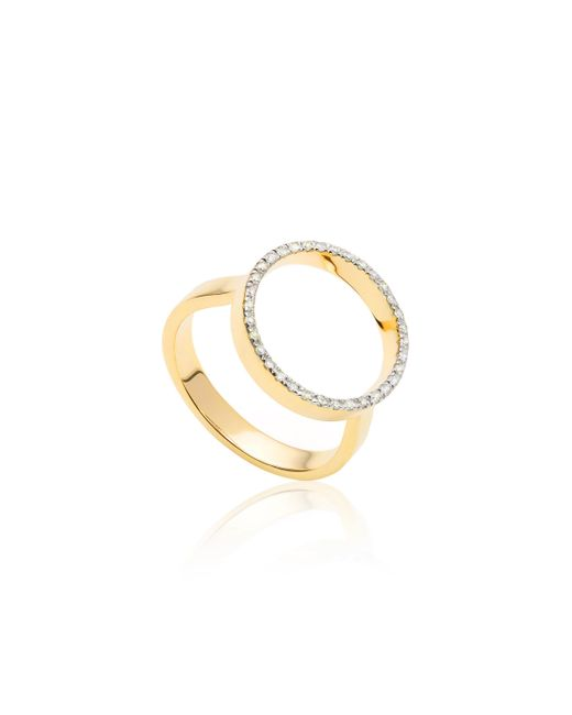 Monica Vinader - Metallic Naida Circle Open Ring - Lyst