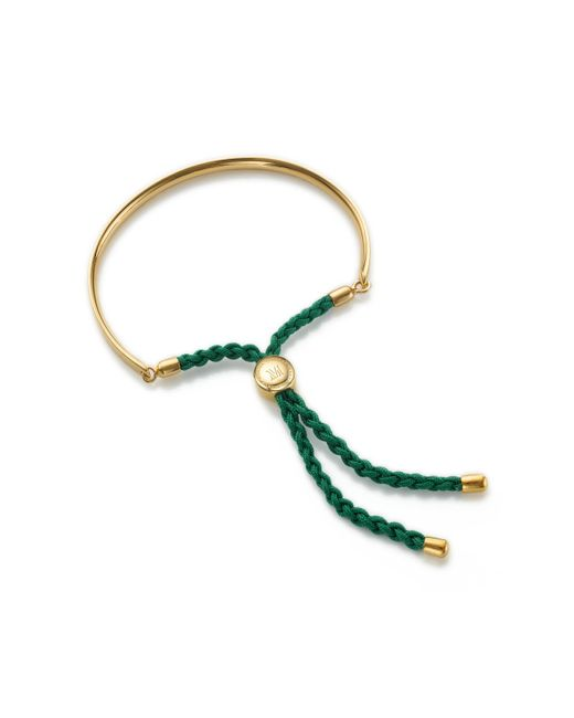 Monica Vinader | Green Fiji Friendship Bracelet | Lyst