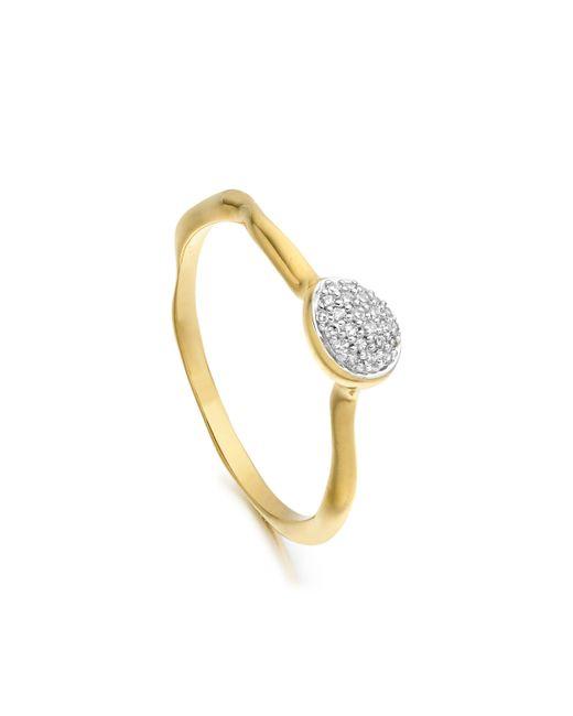 Monica Vinader | Metallic Siren Diamond Small Stacking Ring | Lyst