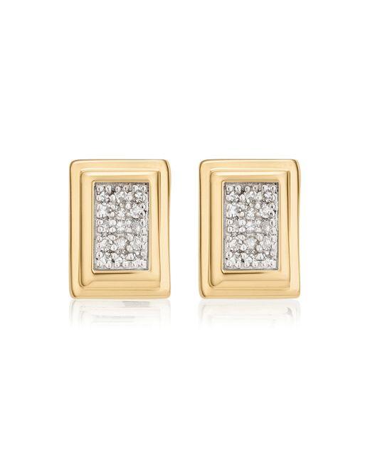 Gold Baja Long Stud Earrings Diamond Monica Vinader WYdr2un