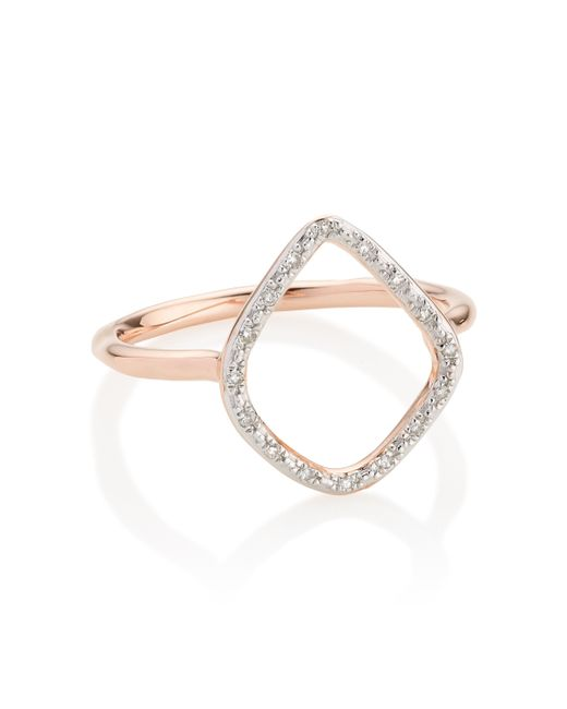 Monica Vinader | Pink Riva Diamond Hoop Ring | Lyst