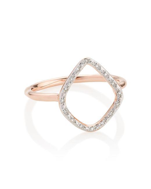 Monica Vinader   Pink Riva Diamond Hoop Ring   Lyst