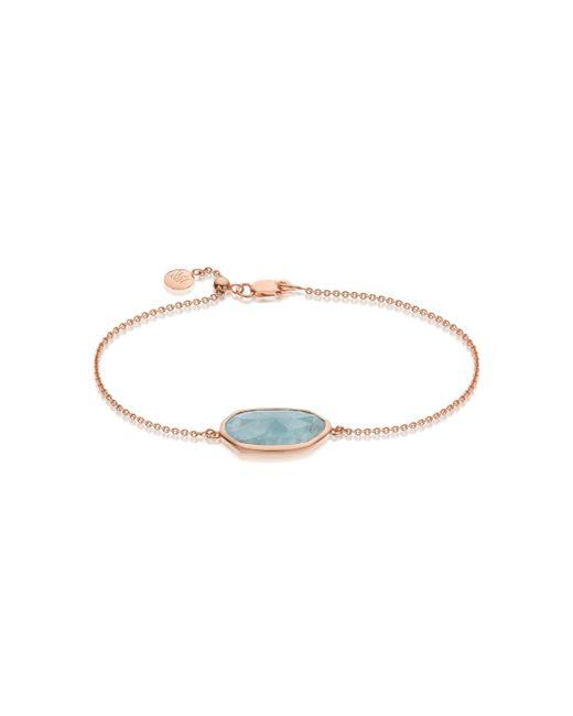Monica Vinader | Pink Capri Chain Bracelet | Lyst