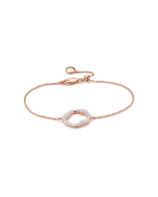 Monica Vinader | Metallic Riva Diamond Circle Chain Bracelet | Lyst