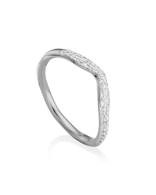 Monica Vinader | Metallic Riva Diamond Wave Stacking Ring | Lyst