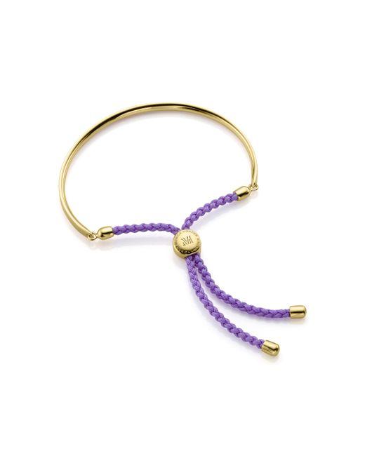 Monica Vinader   Blue Fiji 18ct Rose Gold-plated Friendship Bracelet   Lyst