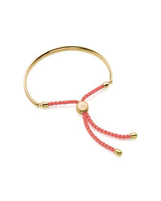 Monica Vinader   Pink Fiji Friendship Bracelet   Lyst