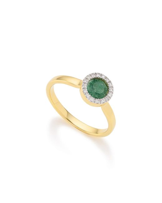Monica Vinader | Metallic Naida Mini Circle Ring | Lyst