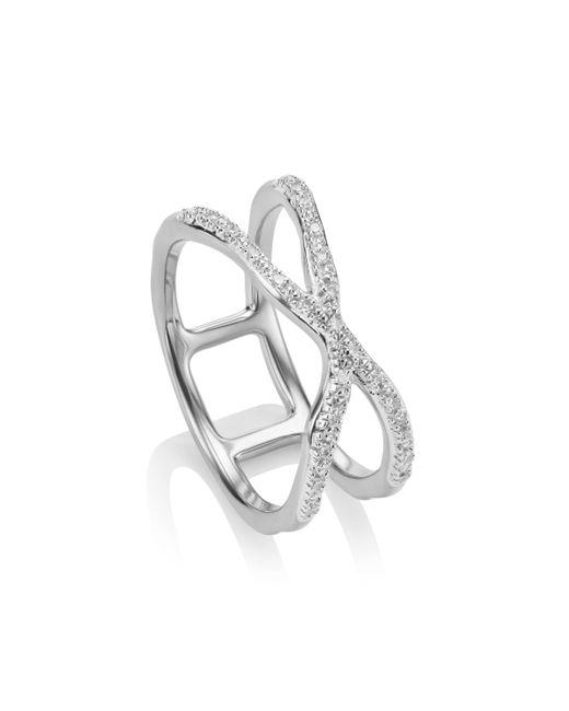 Monica Vinader | Metallic Riva Wave Cross Ring | Lyst