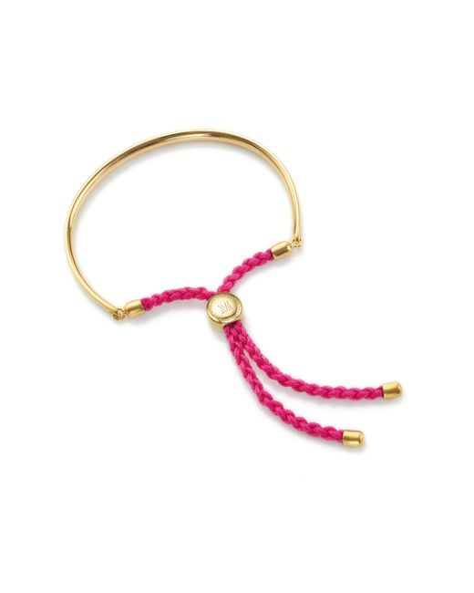Monica Vinader | Red Fiji Friendship Petite Bracelet | Lyst