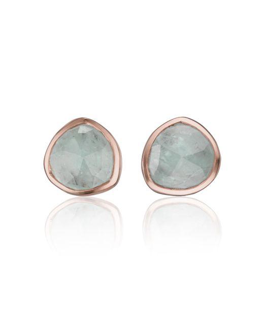 Monica Vinader | Blue Siren Stud Earrings | Lyst
