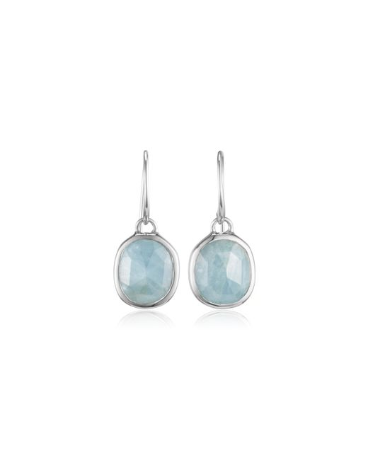 Monica Vinader | Blue Siren Wire Earrings | Lyst