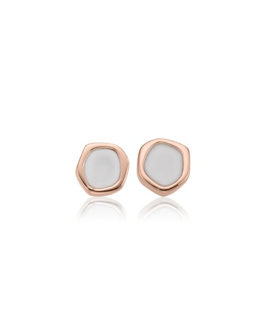 Monica Vinader | Pink Atlantis Gem Mini Stud Earrings | Lyst