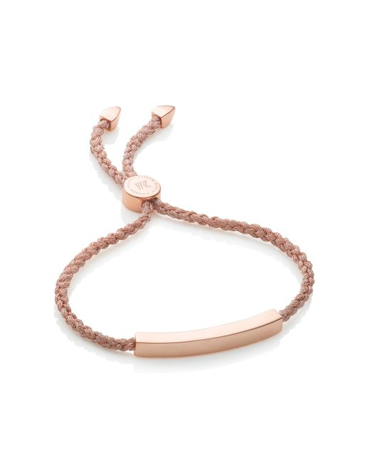 Monica Vinader | Pink Linear Friendship Bracelet | Lyst