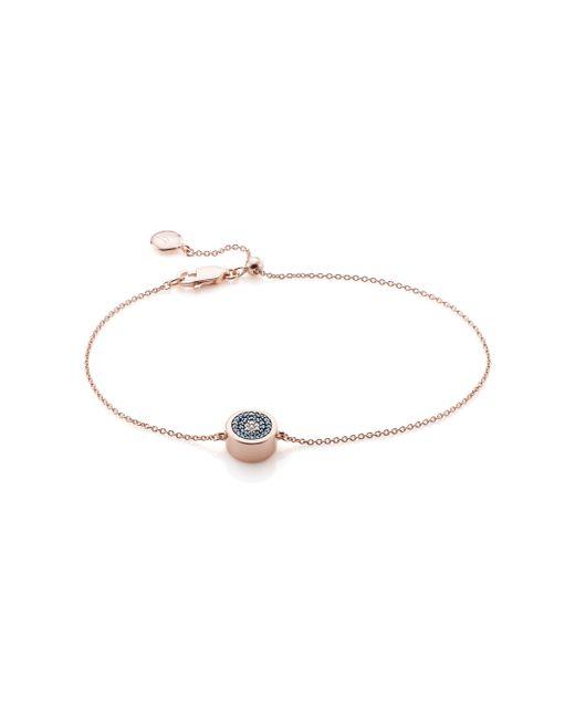 Monica Vinader | Pink Evil Eye Chain Bracelet | Lyst