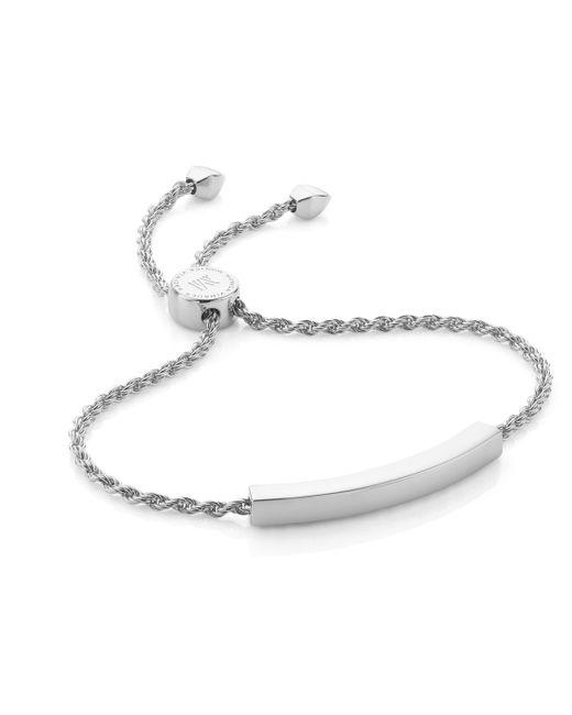 Monica Vinader | Metallic Linear Chain Bracelet | Lyst