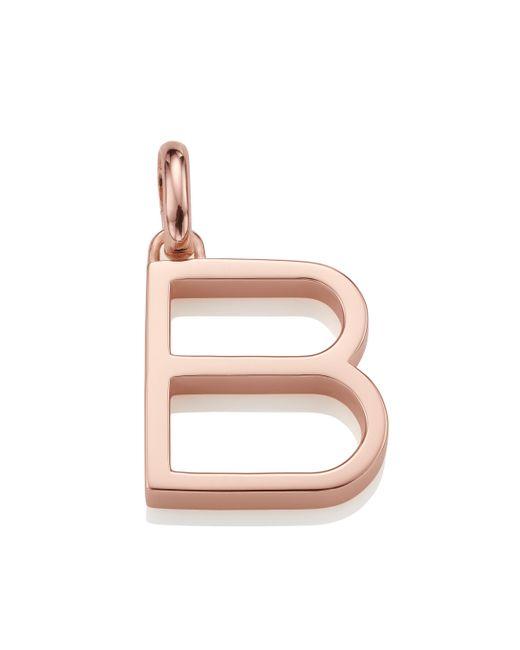 Monica Vinader - Pink Alphabet Pendant B - Lyst