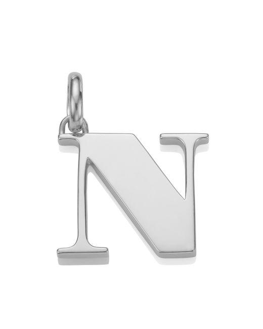 Monica Vinader   Metallic Alphabet Pendant N   Lyst