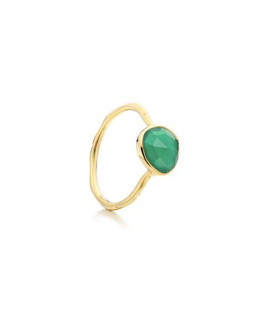 Monica Vinader - Green Siren Stacking Ring - Lyst