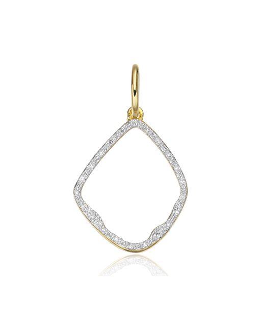 Monica Vinader | Metallic Riva Diamond Hoop Pendant | Lyst